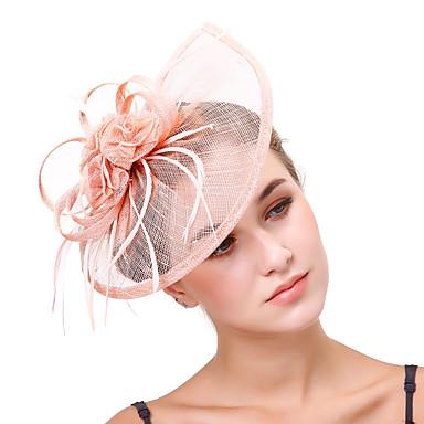 Τούλι / Λινάρι / Δίχτυ Γοητευτικά / Λουλούδια / Τεμάχια Κεφαλής με 1 Γάμου / Πάρτι / Βράδυ Headpiece