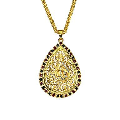 levne Pánské šperky-Pánské Dámské Náhrdelníky s přívěšky Prohlášení Náhrdelníky Kapka Klasické Vintage Geleneksel Módní Slitina Zlatá Náhrdelníky Šperky Pro Dar Obřad