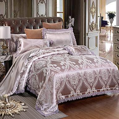 Duvet Cover Sets Luxury 4 Piece Modal Tencel Jacquard 1pc 2pcs Shams Flat Sheet 6377864 2018 103 99