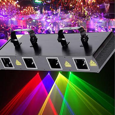 U'King Luz de Palco Laser 7 DMX 512 Master/Slave Ativo por Som automático Controle Remoto 30 para De Discoteca Casamento Palco De Festa