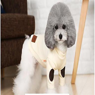 Γάτα Σκύλος Παλτά Πουλόβερ Χριστούγεννα Χειμώνας Ρούχα για σκύλους Μπεζ Γκρίζο Στολές Βαμβάκι Καθημερινά Διατηρείτε Ζεστό Χαλάρωση Τ M L