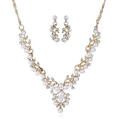 Γυναικεία Κρεμαστά Σκουλαρίκια Κρεμαστό κυρίες Κλασσικό Μοντέρνα Απομίμηση Μαργαριταριού Προσομειωμένο διαμάντι Σκουλαρίκια Κοσμήματα Χρυσό / Ασημί Για