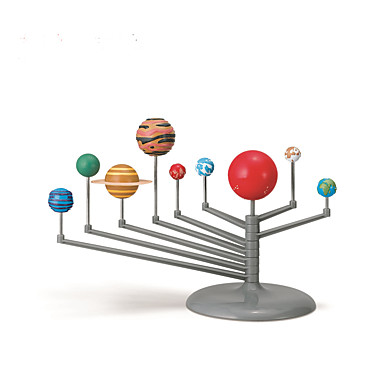 preiswerte Astronomiespielsachen & Modelle-Sonnensystem-Malset Modellbausätze Heimwerken Neun Planeten Kinder Jungen Mädchen Spielzeuge Geschenk 1 pcs