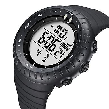 levne Pánské-BIDEN Dámské Sportovní hodinky Digitální hodinky Digitální Kůže Černá 50 m Voděodolné Kalendář Svítící Analogové Na běžné nošení Módní - Bílá Černá