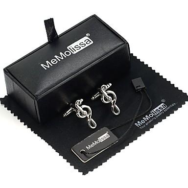 Butoni Μουσικά Όργανα Alphabet Shape Ρομαντικό Δώρο Κουτιά & Τσάντες Καρφίτσα Κοσμήματα Ασημί Για Μασκάρεμα Μπαρ