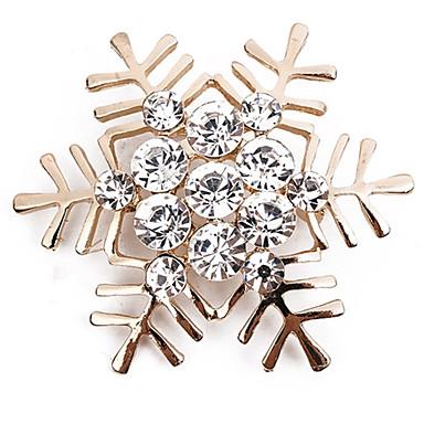 Γυναικεία Καρφίτσες Στρόγγυλα Νιφάδα χιονιού κυρίες Απλός Κλασσικό Μοντέρνα Προσομειωμένο διαμάντι Καρφίτσα Κοσμήματα Χρυσό Ασημί Για Καθημερινά