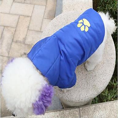 Γάτα Σκύλος Παλτά Φούτερ με Κουκούλα Χριστούγεννα Χειμώνας Ρούχα για σκύλους Κόκκινο Μπλε Ροζ Στολές Τερυλίνη Ζώο Καθημερινά Διατηρείτε Ζεστό Halloween Τ M L