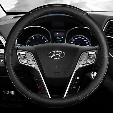 Καλύμματα για το τιμόνι αυτοκινήτου Δερμάτινο 38 εκ Θαλασσί / Λευκό / Ρουμπίνι Για Hyundai Elantra Όλες οι χρονιές