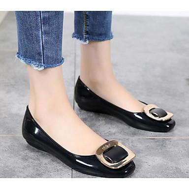 Mujer Zapatos Cuero de Napa Primavera verano Confort Tacones Tacón Cuadrado Negro / Wine Sortie Geniue Stockist Mieux En Ligne b3Vzf