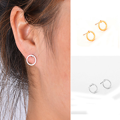 levne Dámské šperky-Dámské Peckové náušnice Přizpůsobeno Jednoduchý Geometrik Módní Euramerican Small Náušnice Šperky Zlatá / Stříbrná Pro Denní Ležérní