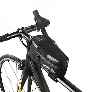 Cycling Bike Bicycle Frame Front Tube Bag Expand Capacity 1.5 times Black