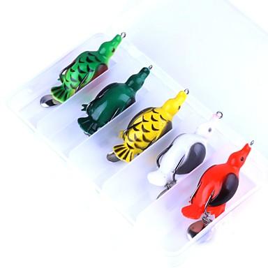 5 pcs Βάτραχος Επιπλέει Bass Τρώκτης Λούτσος Ψάρεμα Γλυκού Νερού Ψάρεμα με Δόλωμα Πλαστική ύλη