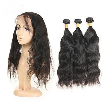 povoljno Ekstenzije od ljudske kose-3 paketa Peruanska kosa Prirodne kovrče Remy kosa Ljudske kose plete Isprepliće ljudske kose Proširenja ljudske kose