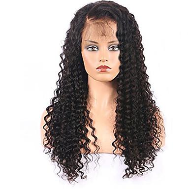 Remy Τρίχα Δαντέλα Μπροστά Χωρίς Κόλλα Δαντέλα Μπροστά Περούκα στυλ Βραζιλιάνικη Σγουρά Περούκα 150% Πυκνότητα μαλλιών με τα μαλλιά μωρών 100% παρθένα Γυναικεία Κοντό Μεσαίο Μακρύ