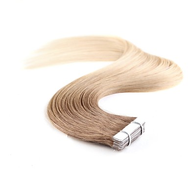 cheap Tape in Hair Extensions-Neitsi Tape In Human Hair Extensions Classic Human Hair Human Hair Extensions Women's Beige Blonde /  / Bleached Blonde
