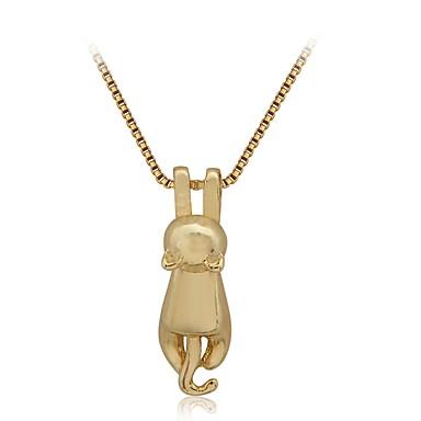 povoljno Modne ogrlice-Žene Ogrlice s privjeskom Mačka Sa životinjama dame Crtići Legura Zlato Ogrlice Jewelry Za Dnevno