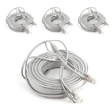 Καλώδια 4PCS 164ft CCTV RJ45 Video Network Cable DC Power Camera Extension για Ασφάλεια συστήματα 5000cm 4.2kg