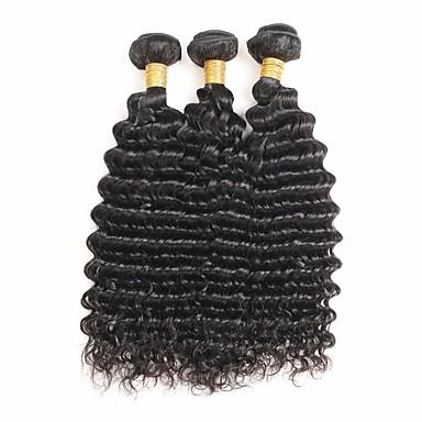 3 δεσμίδες Ινδική Βαθύ Κύμα Remy Τρίχα Υφάνσεις ανθρώπινα μαλλιών Υφάνσεις ανθρώπινα μαλλιών Επεκτάσεις ανθρώπινα μαλλιών