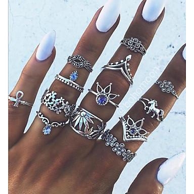 billige Ring Set-Dame Knokering 1 Sølv Legering Geometrisk Form Statement damer Uvanlig Daglig Smykker geometriske