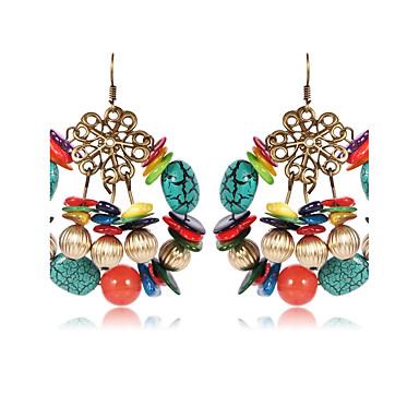 povoljno Modne naušnice-Žene Onyx Viseće naušnice dame Vintage Elegantno afrički Prirodni kamen Naušnice Jewelry Duga Za Kauzalni Izlasci