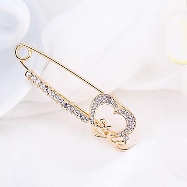 Γυναικεία Καρφίτσες Απλός Κομψό Στρας Καρφίτσα Κοσμήματα Χρυσό Για Καθημερινά Causal