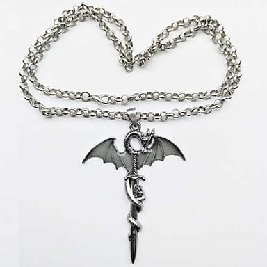 preiswerte Luxus Schmuck-Herrn Damen Pendant Halskette Retro leuchtend satanisch Metal Aleación Silber Modische Halsketten Schmuck 1 Für Karnival Bar