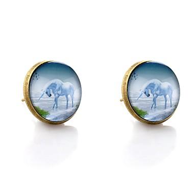 Γυναικεία Κουμπωτά Σκουλαρίκια Ζώο Πολύχρωμα Σκουλαρίκια Κοσμήματα Μπρονζέ Για Ημερομηνία Πρωτοχρονιά 2pcs