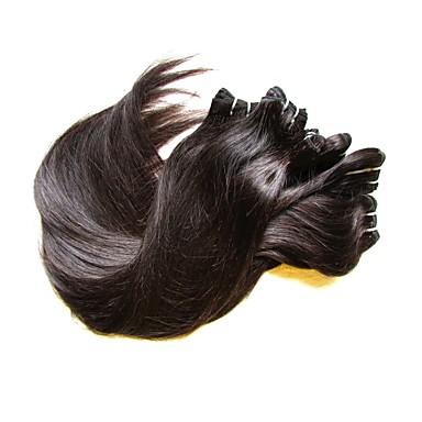 6 pacotes Cabelo Brasileiro Liso Cabelo Natural Remy Cabelo Humano Ondulado 8-24 polegada Tramas de cabelo humano Extensões de cabelo humano