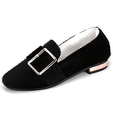 Mujer Zapatos Goma Invierno Confort Zapatos de taco bajo y Slip-On Dedo  redondo para Al aire libre Negro Beige Café 6364033 2019 –  16.99 803e3f21785ea