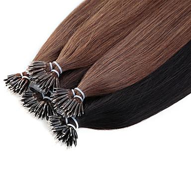 povoljno Ekstenzije za kosu-Ekstenzije s mikro ringom Proširenja ljudske kose Ravan kroj Ljudska kosa Ekstenzije od ljudske kose Nano Žene Ash Brown