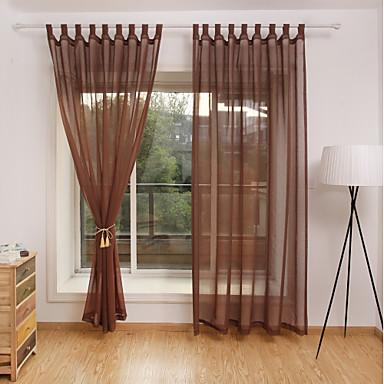 [$27.96] cortinas transparentes contemporáneas cortinas dos paneles comedor  / dormitorio