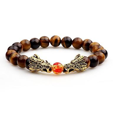 voordelige Herensieraden-Heren Onyx Kralenarmband Aziatisch Agaat Armband sieraden Wit / Zwart / Bruin Voor Avond Feest Straat