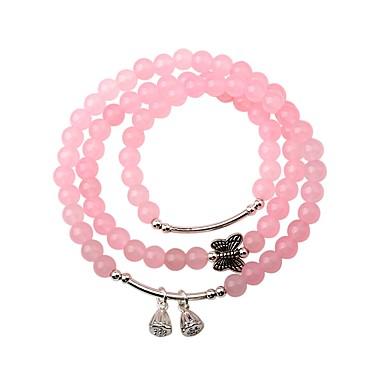 povoljno Modne narukvice-Žene Kristal Narukvica s perlama Narukvica Mašnice Moda Kristal Narukvica Nakit Pink Za Party Dar