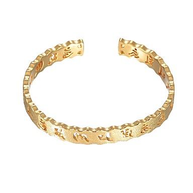 povoljno Modne narukvice-Žene Široke narukvice Glazbena nota Moda Kamen Narukvica Nakit Zlato Za Vjenčanje Dnevno
