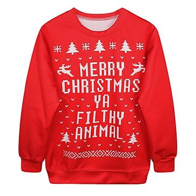Karácsonyi pulóver Santa ruházat Női Karácsony Fesztivál   ünnepek Bélelt  kelme Piros Farsangi jelmezek Nyomtatás 6409306 2019 –  19.99 b1b49796c4