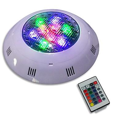 JIAWEN 1pc 9 W Υποβρύχιο Φως Τηλεκατευθυνόμενος RGB 12-24 V Εξωτερικός Φωτισμός 9 LED χάντρες