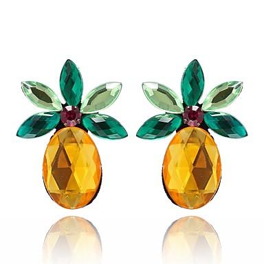 levne Dámské šperky-Dámské Křišťál Citrín Peckové náušnice Oval Marquise Ananas Ovoce Nálada dámy Sladký Křišťál Náušnice Šperky Žlutá Pro Denní Jdeme ven