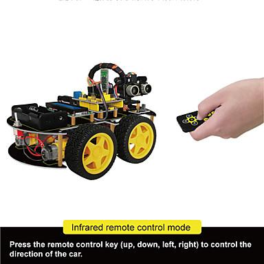 Keyestudio 4wd bluetooth multi-funcional diy smart car kit user manualpdf videoscrewdriver para arduino robot carro iniciador