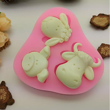 1pc Καουτσούκ Σιλικόνης Silica Gel Αντικολλητικό ψήσιμο Εργαλείο 3D Μπισκότα Σοκολατί Για μαγειρικά σκεύη Καλούπια τούρτας Εργαλεία ψησίματος