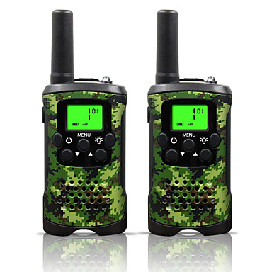 billige Walkie-talkies-toveis radiointercom 22 kanal 3 miles lang rekkevidde barn walkie talkies gutter jenter leker gaver batteridrevet walky talky med lommelykt for utendørs eventyrcamping (camo)