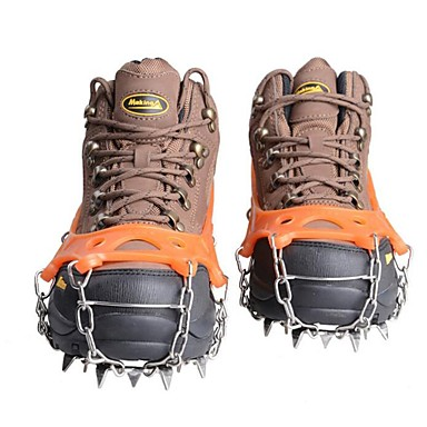 cheap Camping Tools, Carabiners & Ropes-Traction Cleats Climbing Protection Crampons Outdoor Non-Slip Metal Alloy Rubber Silica Gel Hiking Climbing Outdoor Exercise 17.5*16.8 cm Black Orange Navy Blue