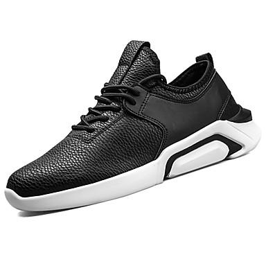 Hombre Zapatos Goma Primavera / Verano Confort Zapatillas de Atletismo Paseo Blanco / Negro tpr1WdGAXH