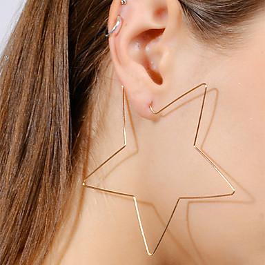 Γυναικεία Κρεμαστά Σκουλαρίκια Stea κυρίες Απλός Ευρωπαϊκό Μοντέρνα Σκουλαρίκια Κοσμήματα Χρυσό / Ασημί Για Μπαρ