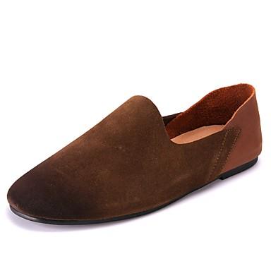 Zapatos Ante Otoño Confort Zapatos de taco bajo y Slip-On para Al aire libre Negro Marrón 8Dc2cR