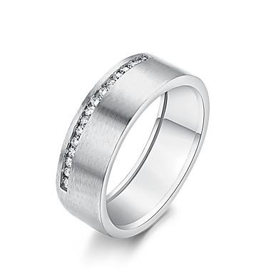Γυναικεία Band Ring Δαχτυλίδια Groove Cubic Zirconia 1 Ασημί Χρυσό Τριανταφυλλί Rose Gold Ζιρκονίτης Ασημί Circle Shape Geometric Shape Βίντατζ Μοντέρνα Κομψό Γάμου Αρραβώνας Κοσμήματα