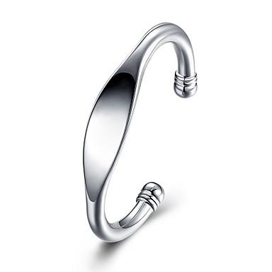 Ανδρικά Βραχιόλια Γεωμετρική Μοντέρνα Επάργυρο Βραχιόλι Κοσμήματα Ασημί Για Γάμου Δώρο Καθημερινά Μασκάρεμα Πάρτι Αρραβώνων Χοροεσπερίδα
