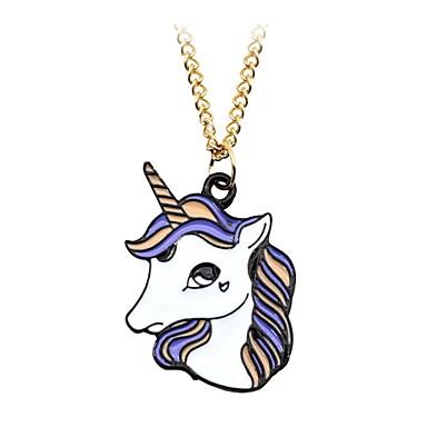 povoljno Modne ogrlice-Muškarci Žene Ogrlice s privjeskom Privjesci Geometrijski Unicorn Klasik Vintage Moda Legura Svjetloplav Ogrlice Jewelry Za Dnevno Rad