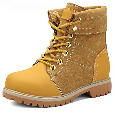 Αγορίστικα Μπότες Χιονιού / Μπότες Μάχης Δέρμα Μπότες Διαφορετικά Υφάσματα Μαύρο / Καφέ / Κόκκινο Χειμώνας / Μποτίνια / TPR (Θερμοπλαστικό Καοτσούκ)