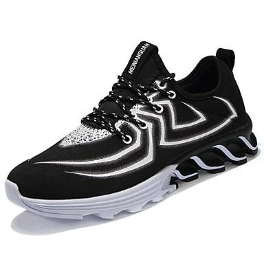 Hombre / Unisex Zapatos Punto / Tul Primavera / Verano Confort / Suelas con luz Zapatillas de Atletismo Running Negro / Gris / Azul 6aF0ciGDr
