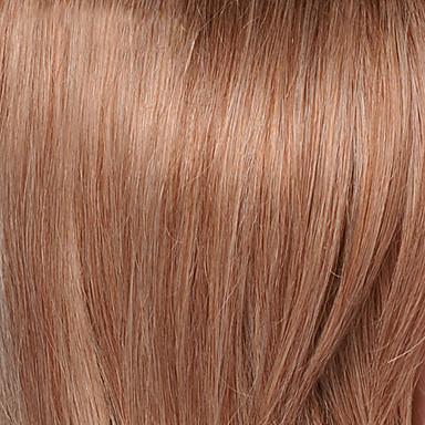povoljno Perike i ekstenzije-Ljudske kose Perika Dug Tijelo Wave Tijelo Wave Stražnji dio Machine Made Žene Crna Med plava Srednja Auburn 24 inčni